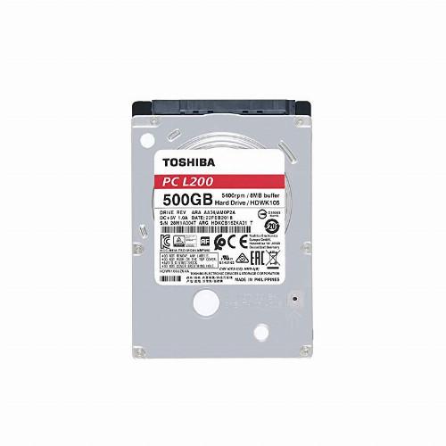 Жесткий диск внутренний Toshiba L200  HDWK105UZSVA (500Гб, HDD, 2,5″, Для ноутбуков, SATA) HDWK105UZSVA