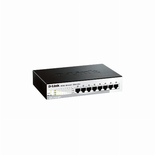 Коммутатор D-link DES-1210-08P/C2A (8 портов, Настраиваемый WebSmart, Без Uplink портов, Без Uplink портов,