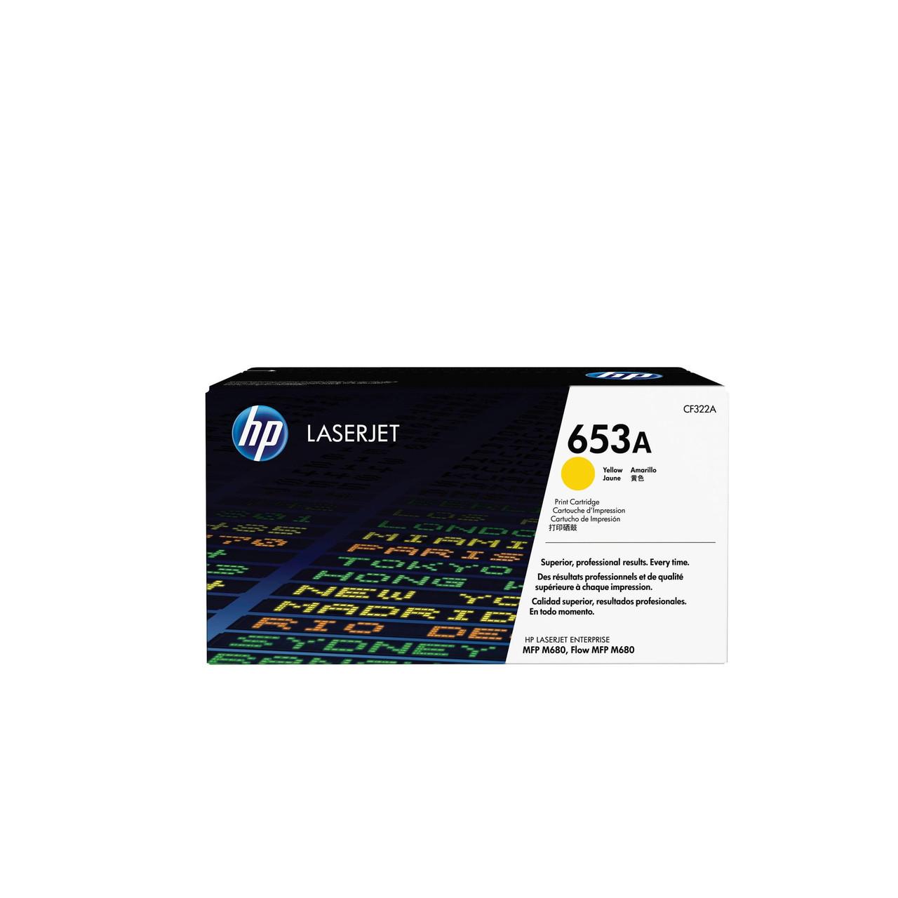 Лазерный картридж HP 653A (Оригинальный, Желтый - Yellow) CF322A