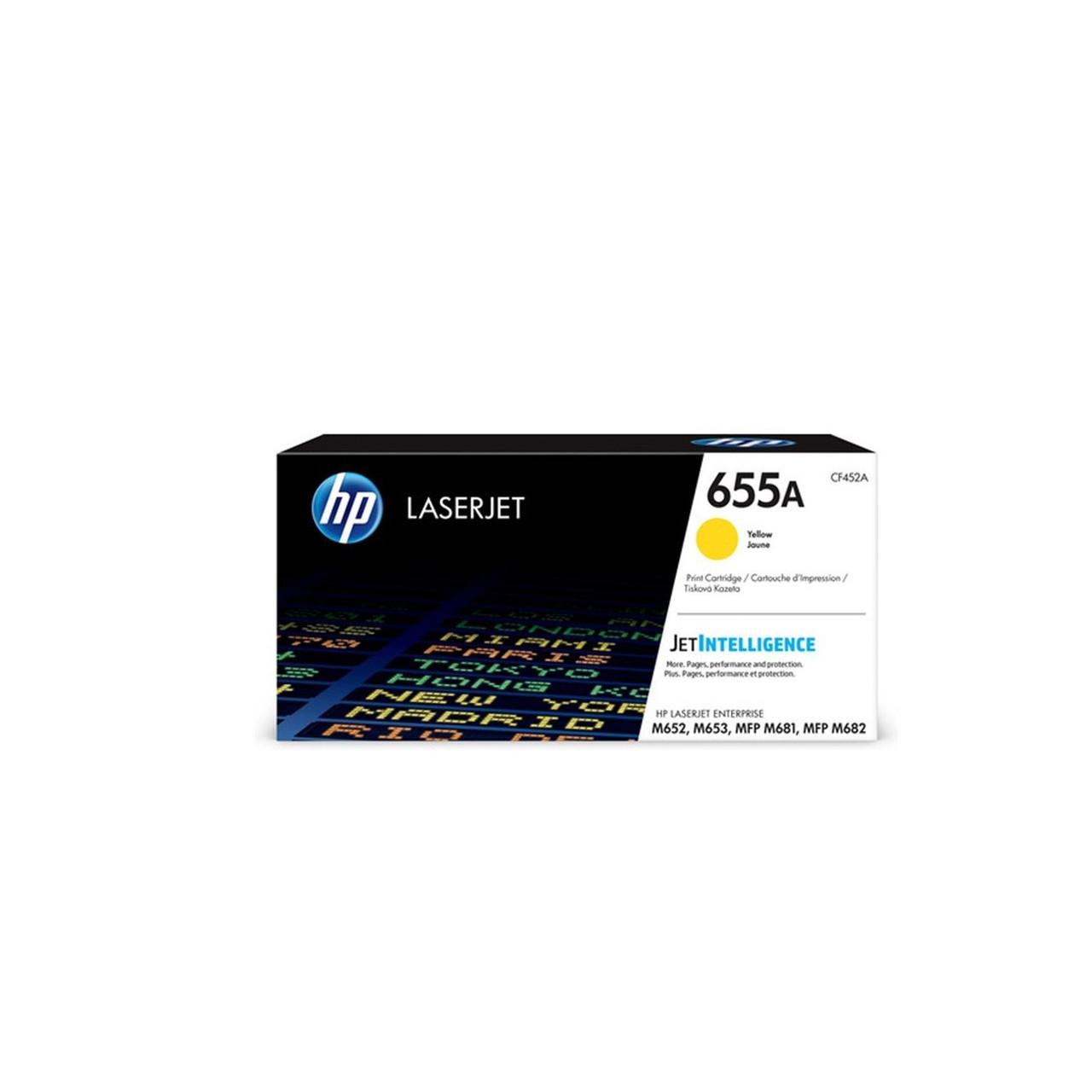 Лазерный картридж HP 655A (Оригинальный, Желтый - Yellow) CF452A