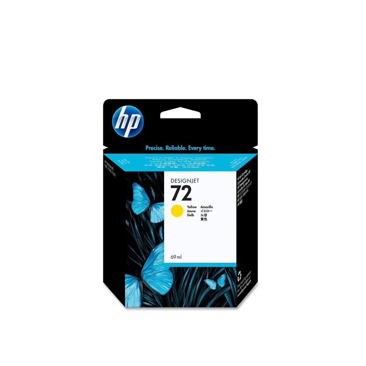 Струйный картридж HP 72 (Оригинальный, Желтый - Yellow) C9400A