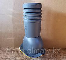 Вентиляционный выход на металлочерепицу Адаманте, Крона 150 диам  (Польша) коричневый, черный, графит