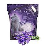 С ароматом лаванды, 7,6л, силикагелевый впитывающий наполнитель Lucky Cat