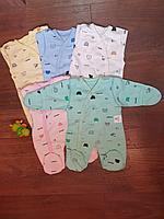 Слипы с начесом для новорожденных Слоненок