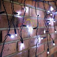 """Уличная светодиодная гирлянда """"Бахрома"""" (""""Айсикл"""") - 2,4х0,6 метра, 88 лампочек, белый цвет, светит постоянно"""