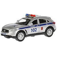 Машинка Infiniti QХ70 Полиция 12 см, Технопарк