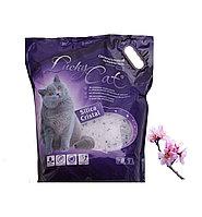 С ароматом сакуры, 7,6л, силикагелевый впитывающий наполнитель Lucky Cat