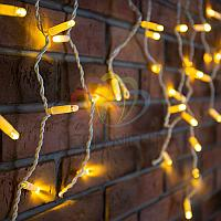 "Уличная гирлянда ""Бахрома"" (""Айсикл"") - 2,4х0,6 метра, 88 лампочек, теплый-белый цвет, светит постоянно"