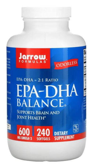 Jarrow Formulas, EPA-DHA Balance, 240 капсул
