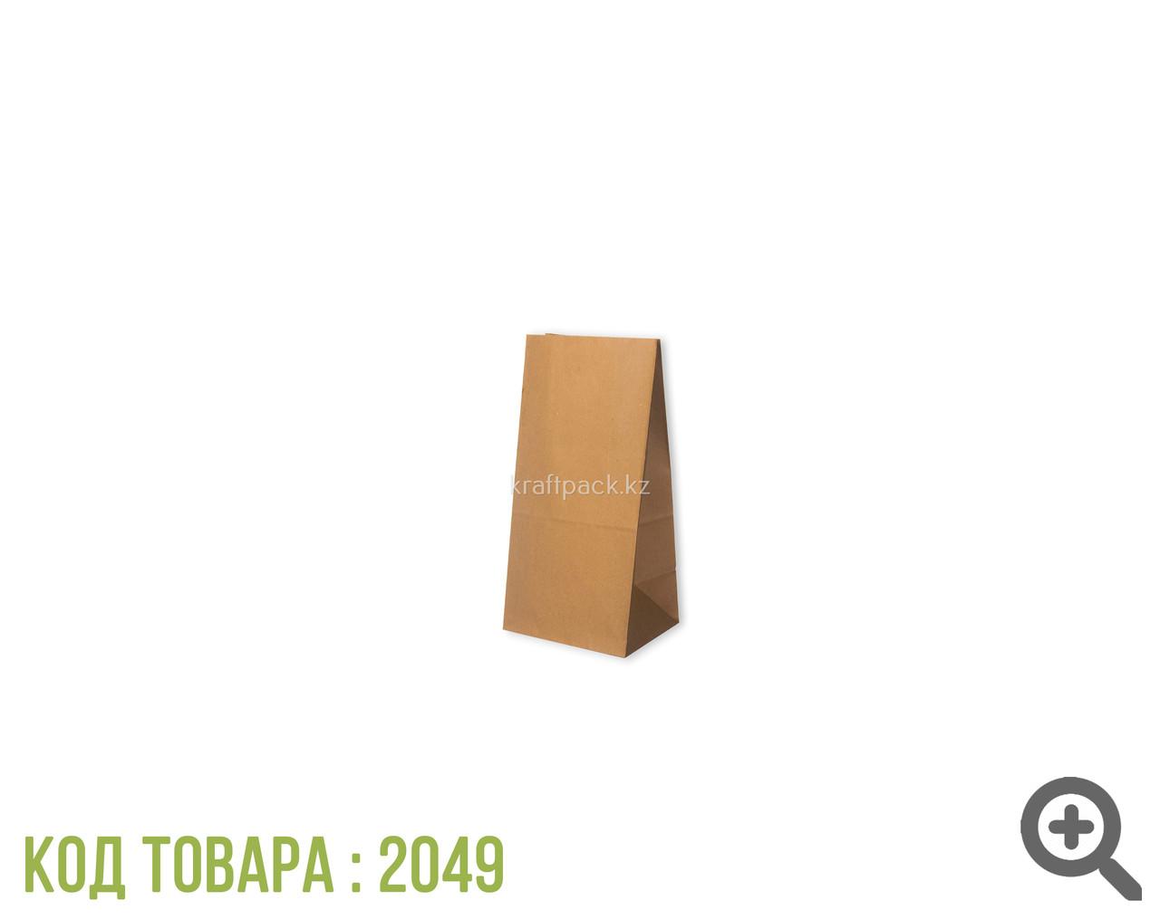 Пакет крафт фасовочный, с прямоугольным дном 80*50*180 мм (800 шт/уп)