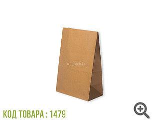Пакет крафт 70гр, с прямоугольным дном 180*120*290 мм (900шт/уп)