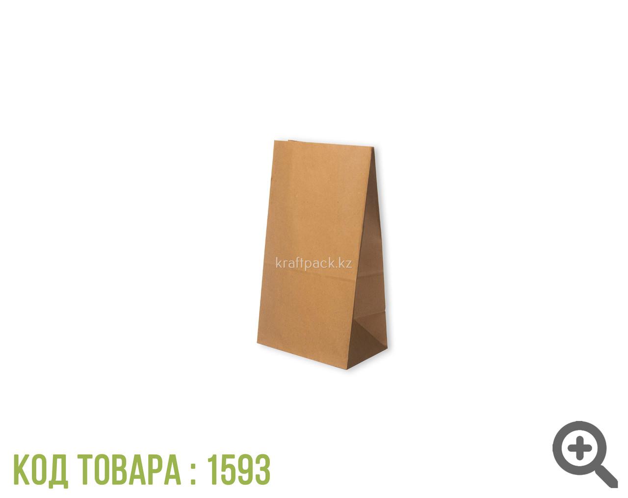 Пакет крафт 70гр, с прямоугольным дном 120*80*250 мм (500шт/уп)