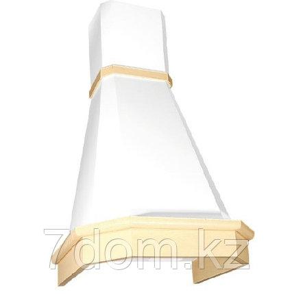 Вытяжка классика ELIKOR  Камин Грань 60П-650 бежевый/дуб белый + патина + золото, фото 2