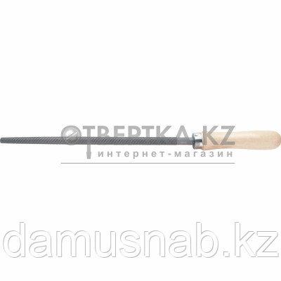 Напильник 250мм круглый деревянная ручка Сибртех