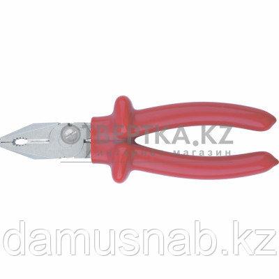 Плоскогубцы 200 мм комбинированные диэлектр ручки до 1000 в оцинкованные Россия