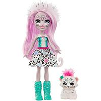 Энчантималс Enchantimals кукла с питомцем Сибилла Снежная Леопарди и Флейк GJX42