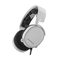 Гарнитура, Steelseries, Arctis 3 White, 61506, Игровая гарнитура, Микрофон выдвижной гибкий