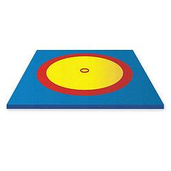 Борцовский ковер (без матов),  трехцветный ,6,3 м х 6,3 м