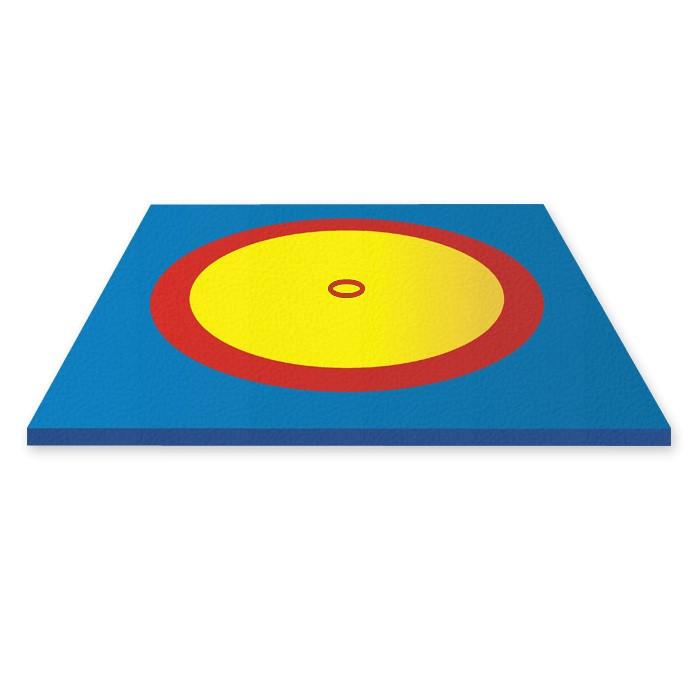 Борцовский ковер (без матов), трехцветный 8,3х8,3м