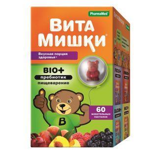 ВитаМишки BIO+пребиотики жев.пастилки №60