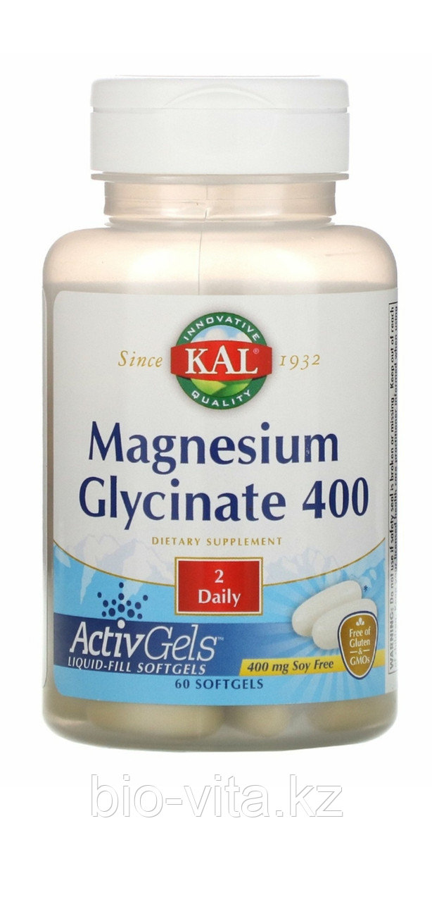 Магний глицинат 400 мг в 2 капсулах.60 капсул. MagnesiumGlicinate.Жидкий магний в капсулах, лучший по усвоению