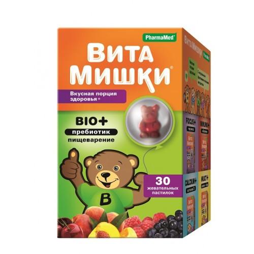 ВитаМишки BIO+пребиотики жев.пастилки №30
