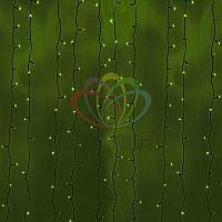 Светодиодная гирлянда Дождь - 2х6 метров, 1140 лампочек, зеленый цвет, светит постоянно