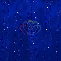 Световая гирлянда Дождь - 2х6 метров, 1140 лампочек, синий цвет, светит постоянно