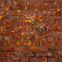 """Гирлянда """"Светодиодный Дождь"""" (""""Занавес"""") - 2х0,8 метра, 160 лампочек, желтый цвет, светит постоянно"""