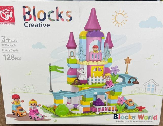 """Конструктор детский """"Веселый замок"""" Blocks Creative 128 PCS"""