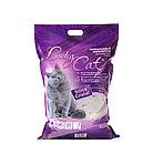 Без запаха, 11л, силикагелевый впитывающий наполнитель Lucky Cat