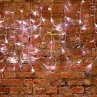 """Гирлянда """"Светодиодный Дождь"""" (""""Занавес"""") - 2х0,8 метра, 160 лампочек, белый цвет, светит постоянно"""