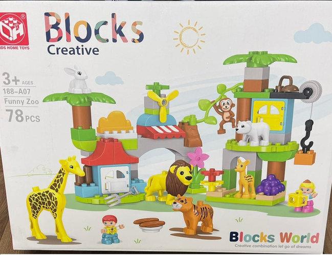 """Конструктор детский """"Веселый зоопарк"""" Blocks Creative 78 PCS"""