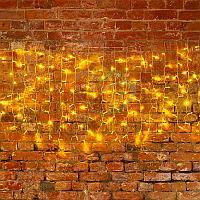 """Гирлянда """"Светодиодный Дождь"""" (""""Занавес"""") - 2х0,8 метра, 160 лампочек, тепло-белый цвет, светит постоянно"""
