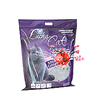 С ароматом сакуры, 22л, силикагелевый впитывающий наполнитель Lucky Cat