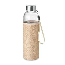 Стеклянная бутылка в чехле из джута, UTAH TOUCH