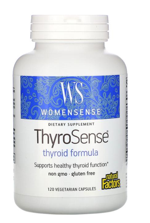 Natural Factors, WomenSense, ThyroSense, Thyroid Formula, 120 Vegetarian Capsules