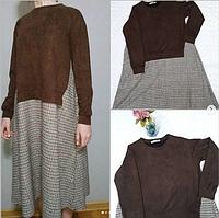 Комбинированное платье-оверсайз ( БЕРЕМЕННЫХ!!!)