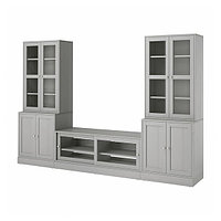 Шкаф для ТВ ХАВСТА комбин/стеклян дверцы, 322x47x212 см ИКЕА, IKEA