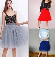 Фатиновые юбки короткие , 3 расцветки