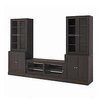 Шкаф для ТВ  ХАВСТА комбин/стеклян дверцы 322x47x212 см ИКЕА, IKEA