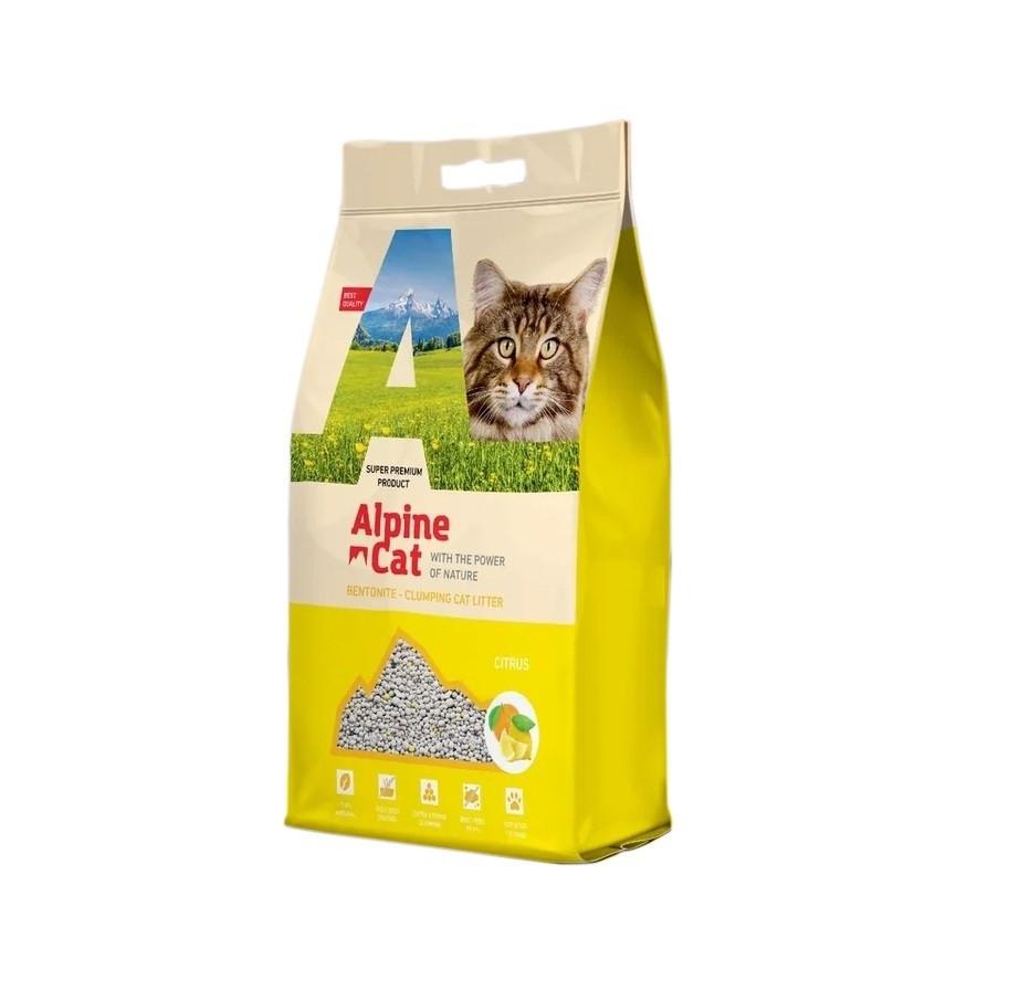 С ароматом цитруса, 10л., наполнитель бентонитовый комкующийся Alpine Cat
