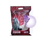 С ароматом лаванды, 10л., комкующийся бентонитовый наполнитель Lucky Cat