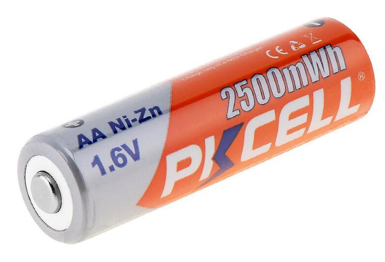 Никель-цинковый аккумулятор Ni-Zn PKCELL АА 1,6 v, 2500mWh