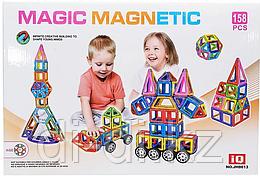 Магнитный конструктор Magic magnetic (158 деталей), в коробке