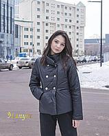 Весенняя куртка (hanym, черный + графитовый), фото 1
