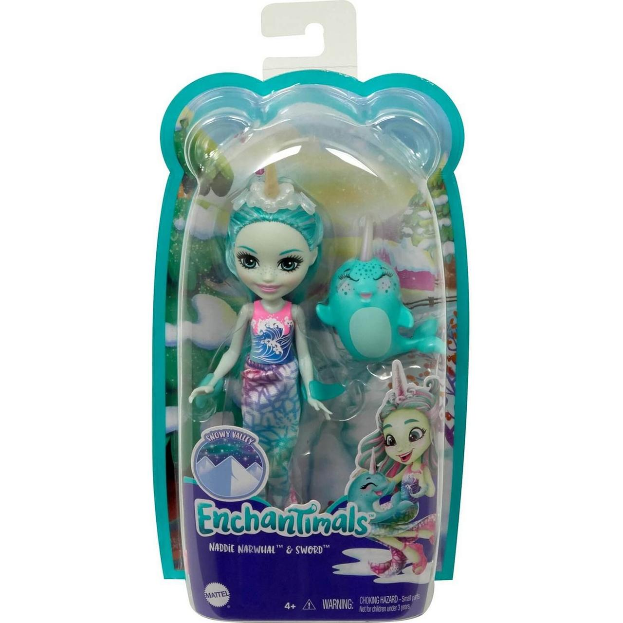 Энчантималс Enchantimals кукла с питомцем Надди Нарвалли и Сворд GJX41 - фото 1