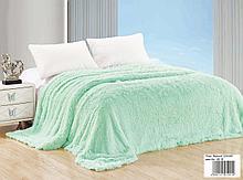 Плед -покрывало/ травка, р-р 220*240 спальный, цвет мятный