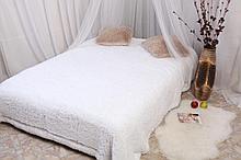 Плед -покрывало/ искусственный мех, р-р 220*240 спальный, цвет белый