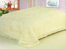 Плед -покрывало/ искусственный мех, р-р 220*240 спальный, цвет шампань
